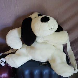 Like new plush dog backpack